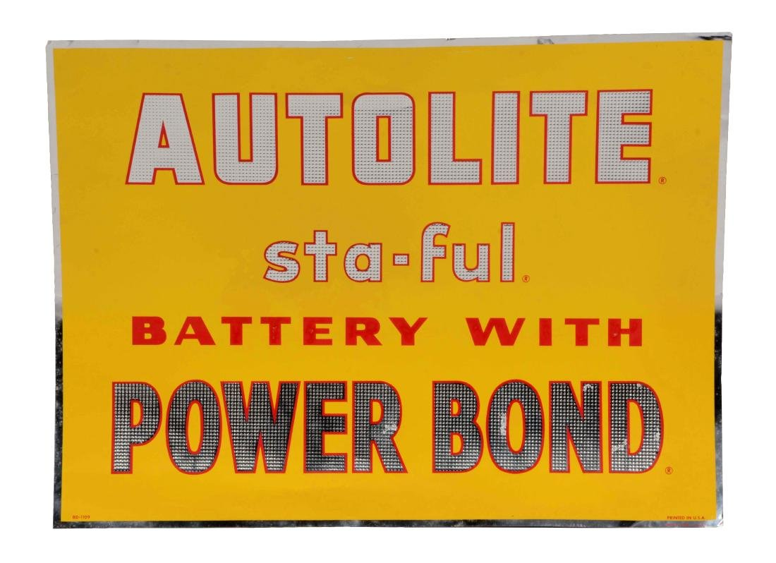 Auto Lite Batteries Tin Sign.