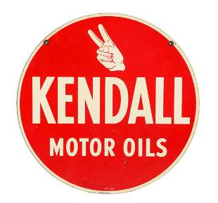 Kendall Motor Oils Tin Sign.