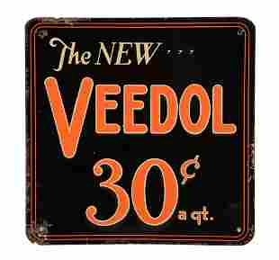 The New Veedol Motor Oil Embossed Tin Sign.