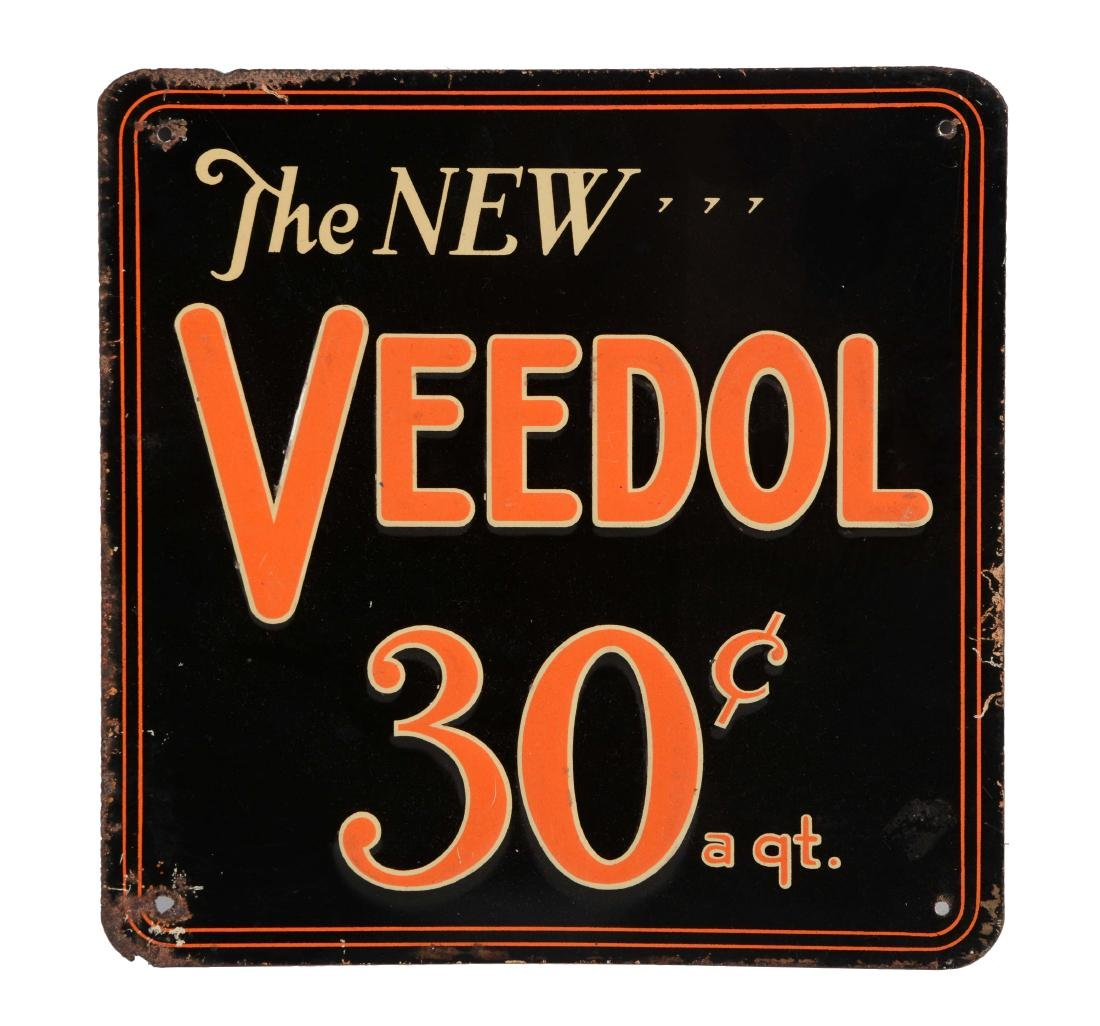 The New Veedol Motor Oil Embossed Tin Sign.