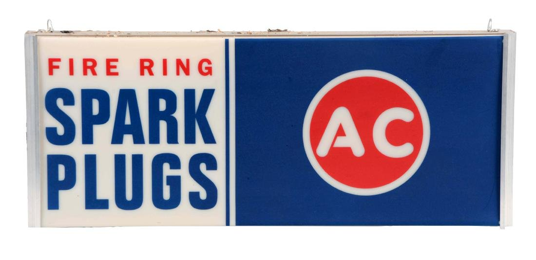 AC Fire Ring Spark Plugs Light Up Store Display Sign.