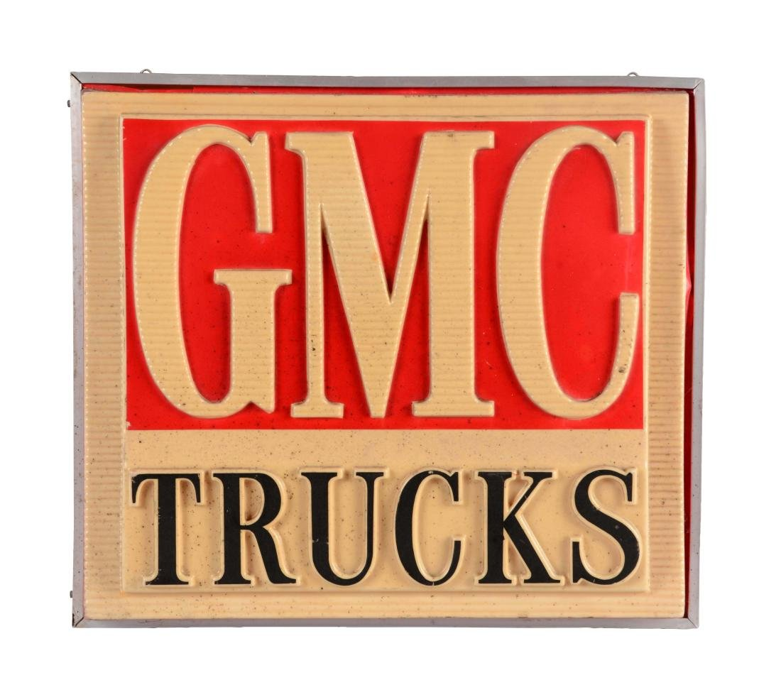 GMC Trucks Embossed Plastic Light Up Store Display