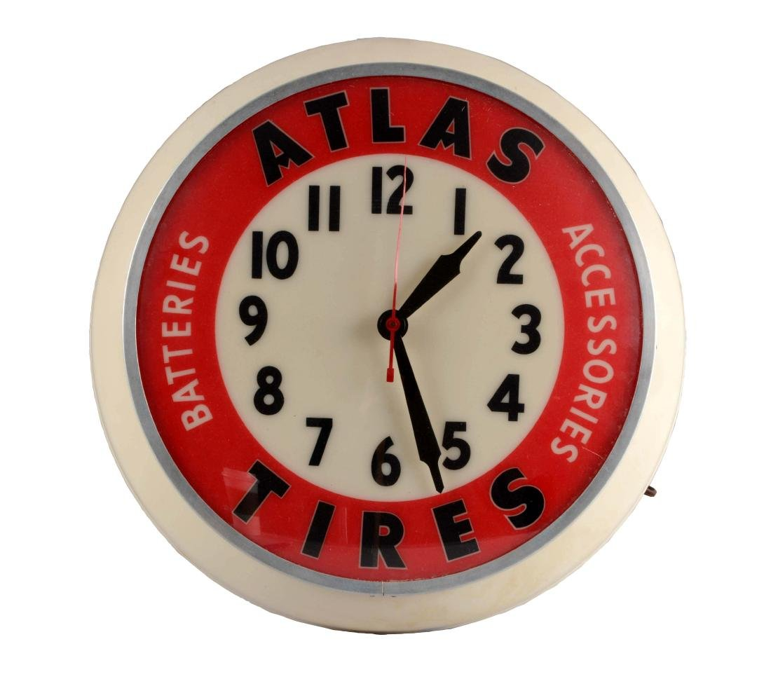 Atlas Tires Dualite Light Up Clock.