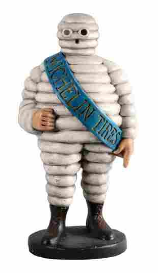 Michelin Tires Bibendum Figural Plaster Statue.