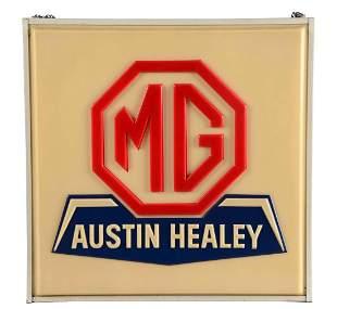 MG Ausin Healey Service Embossed Plastic Light Up