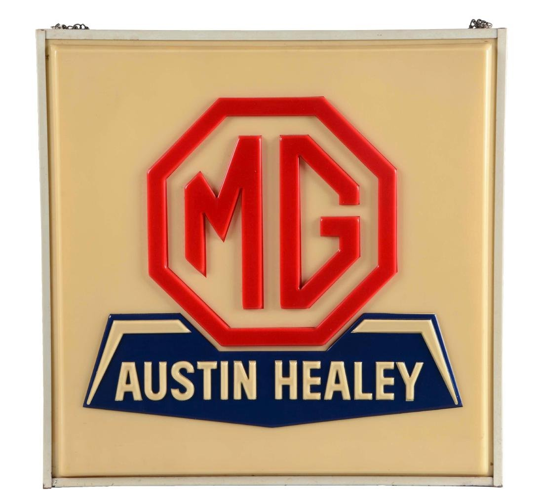 MG Ausin Healey Service Embossed Plastic Light Up