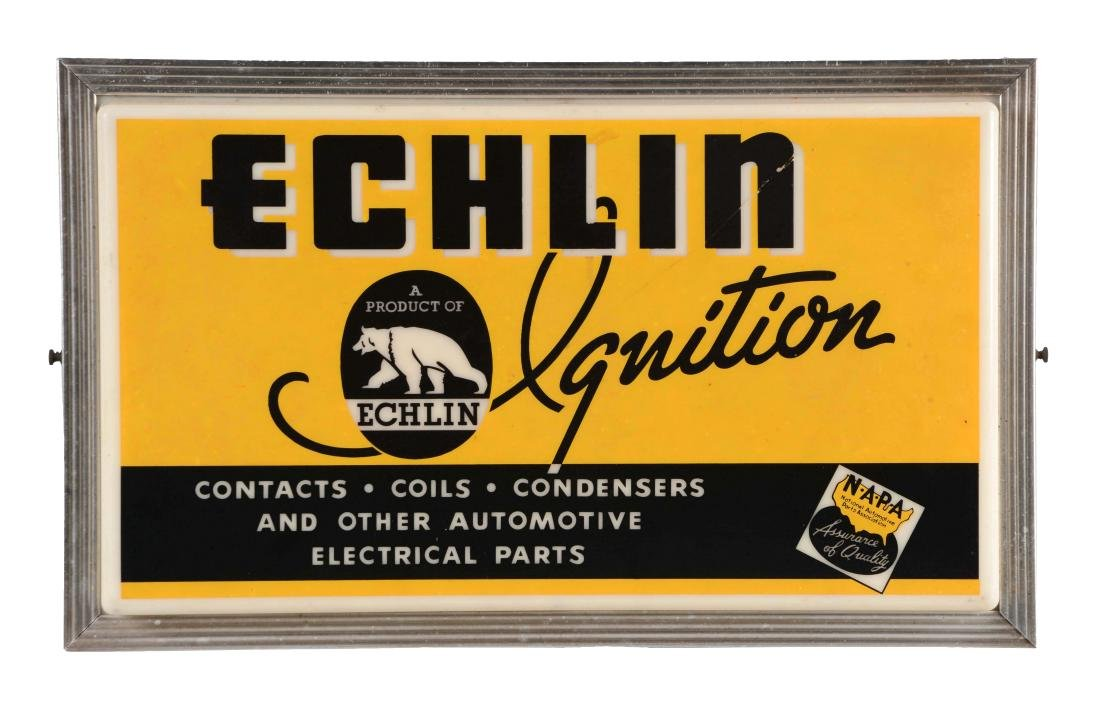 Echlin Ignition Light Up Store Display Sign.