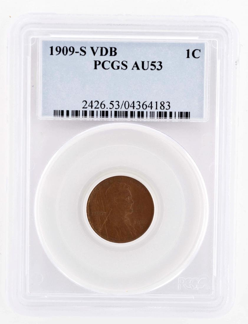 1909-S VDB One Cent Coin.