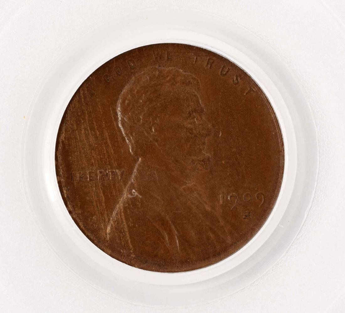 1909-S VDB One Cent Coin. - 2