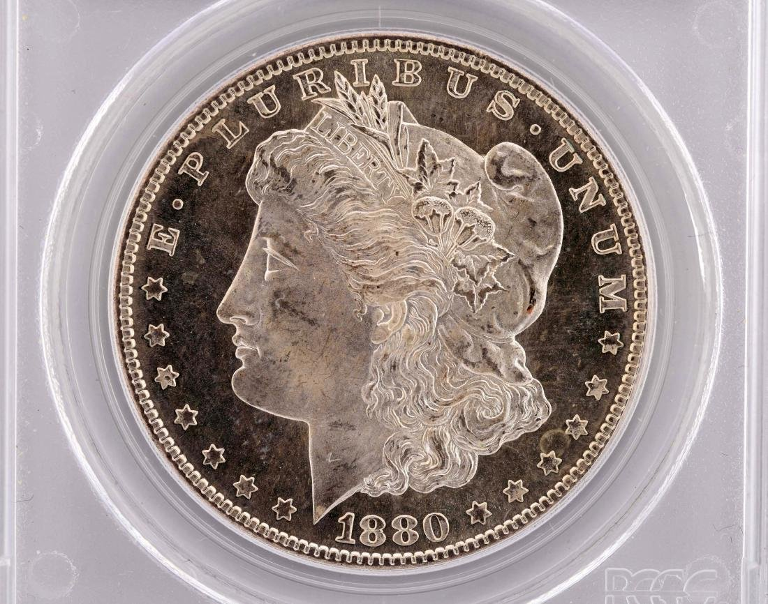 Lot Of 2: 1880-S & 1885 Morgan Silver Dollars. - 2