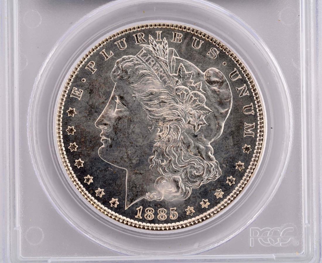 Lot Of 2: 1880-S & 1885 Morgan Silver Dollars. - 3