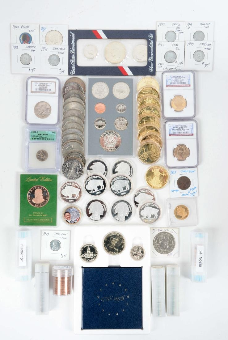 Large Lot Of U.S.A. & Miscellaneous Coins.