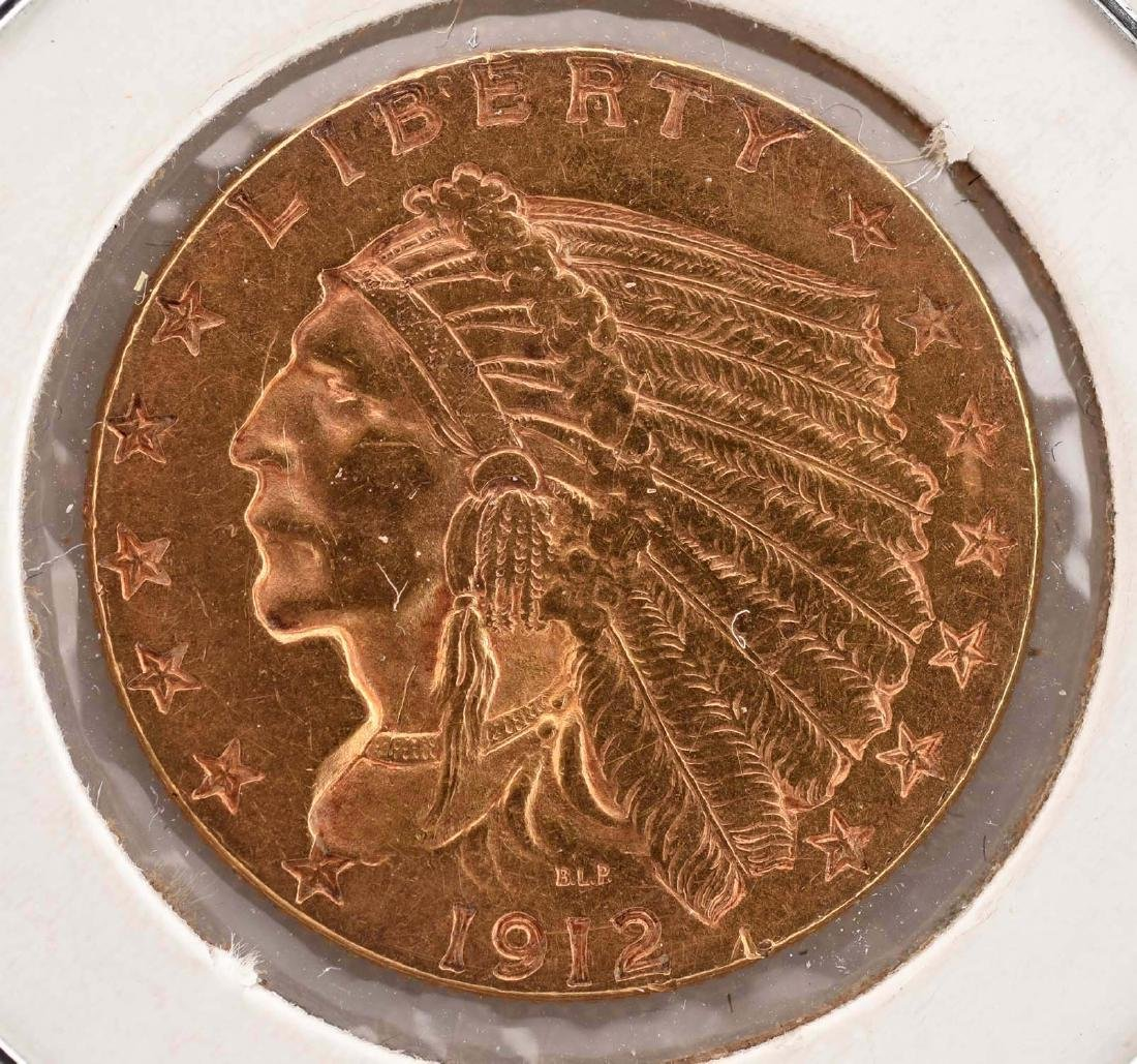 Lot Of 4: $2-1/2 Gold Indian Coins. - 8