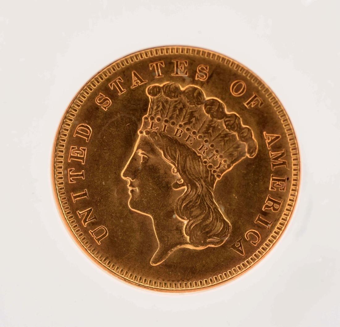 1878 $3 Gold Coin. - 2