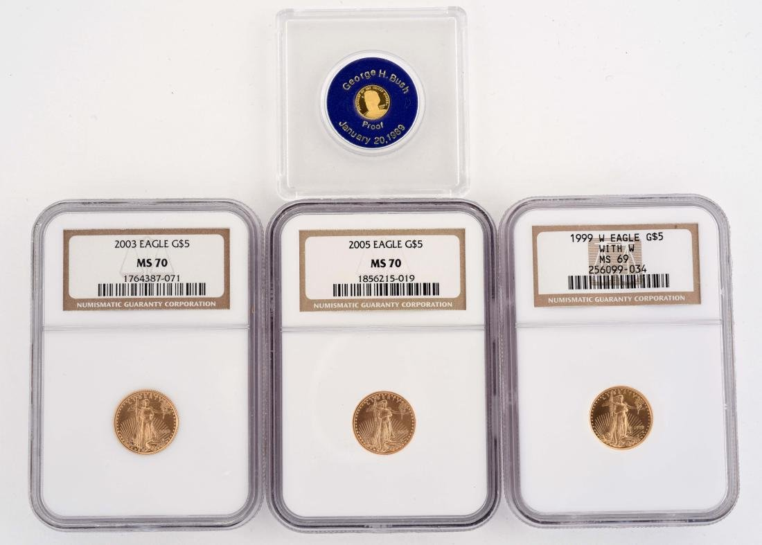Lot of 4: Gold Coins.