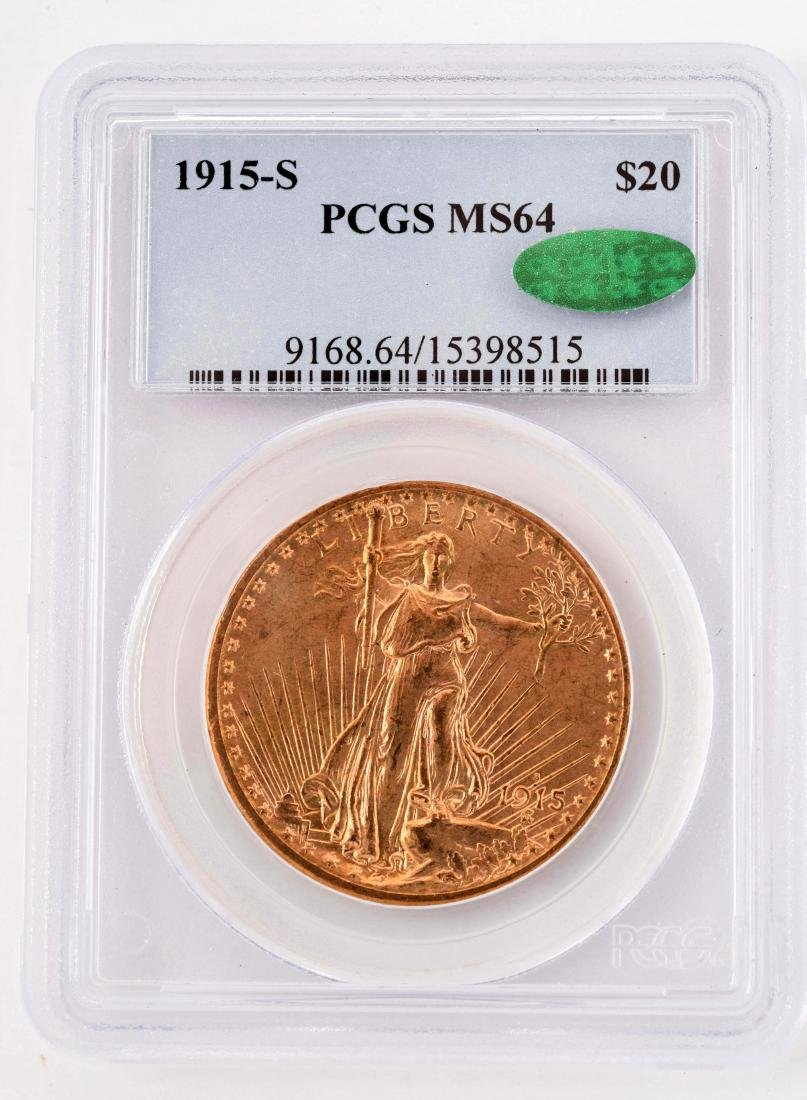 1915-S  $20 Gold Double Eagle Coin.