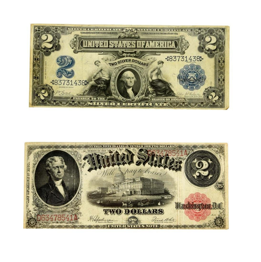 Lot of 2: $2 Large Notes.