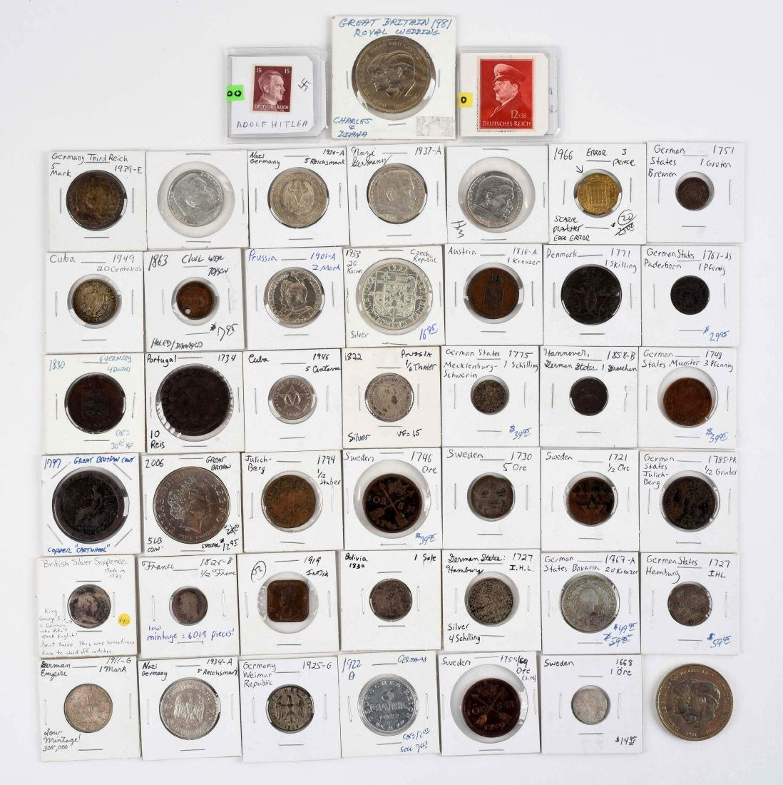 Large Lot Of Foreign Coins.