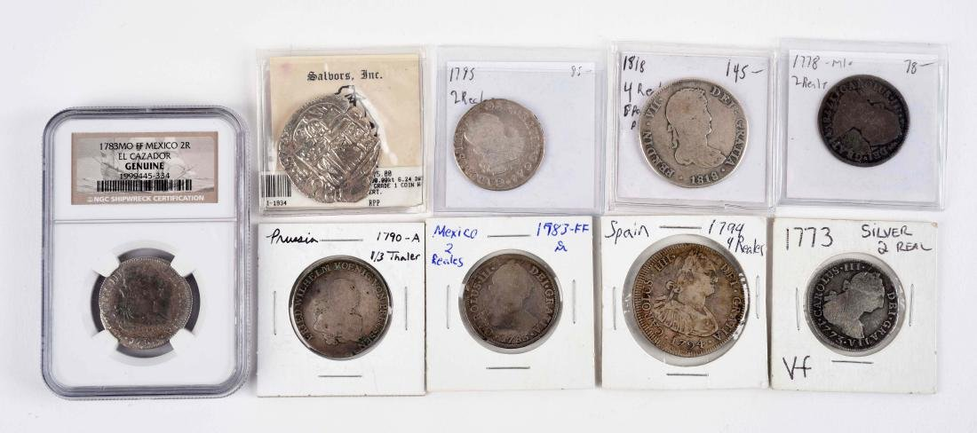 Lot Of 9: Early Foreign Coins.