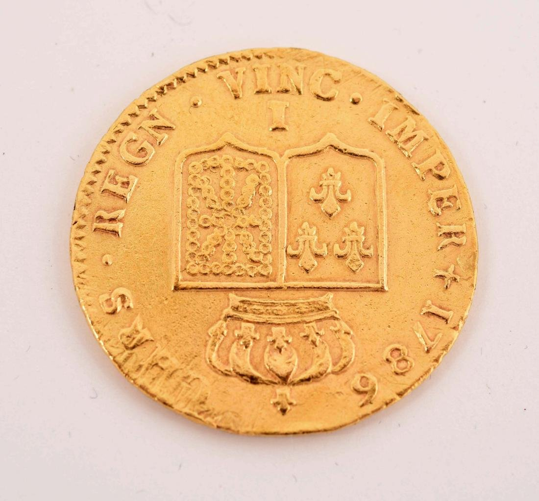 1786 Gold French Coin. - 2