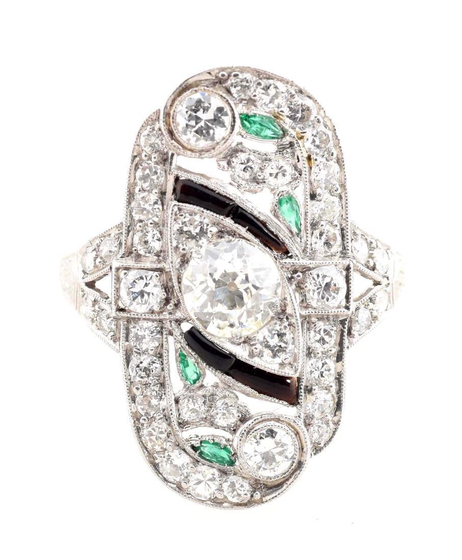 Platinum Diamond Ring. - 2