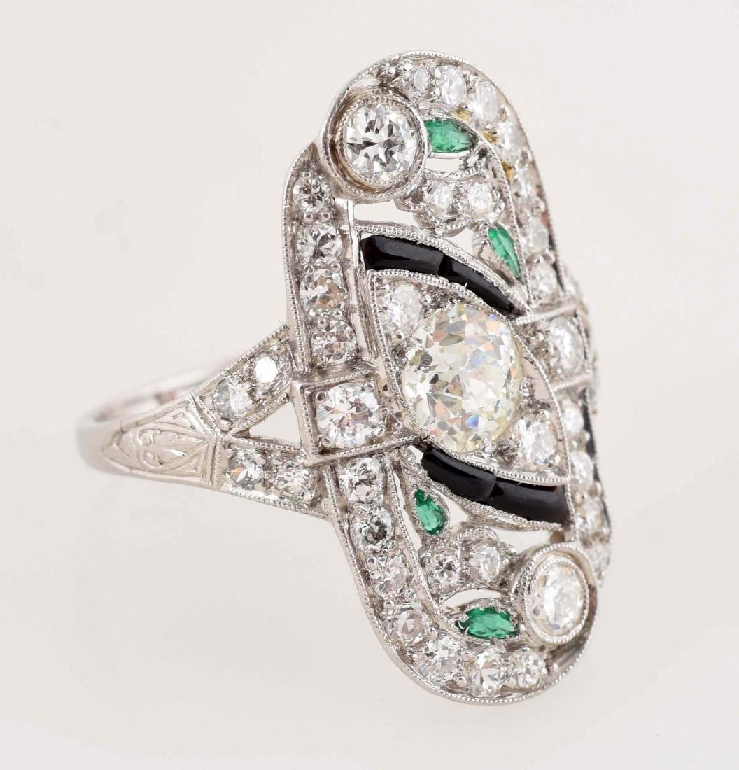Platinum Diamond Ring. - 3