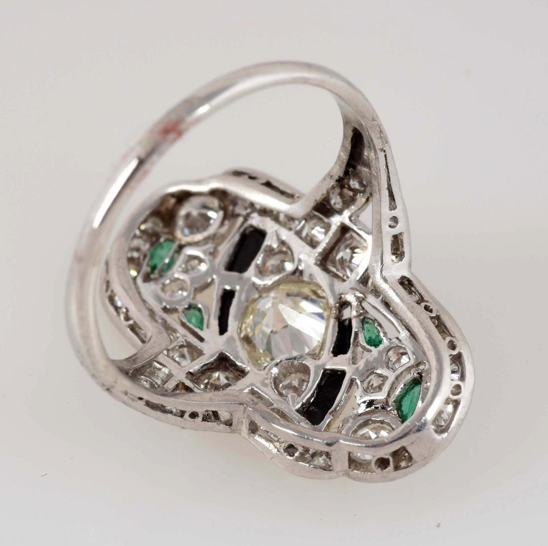 Platinum Diamond Ring. - 4