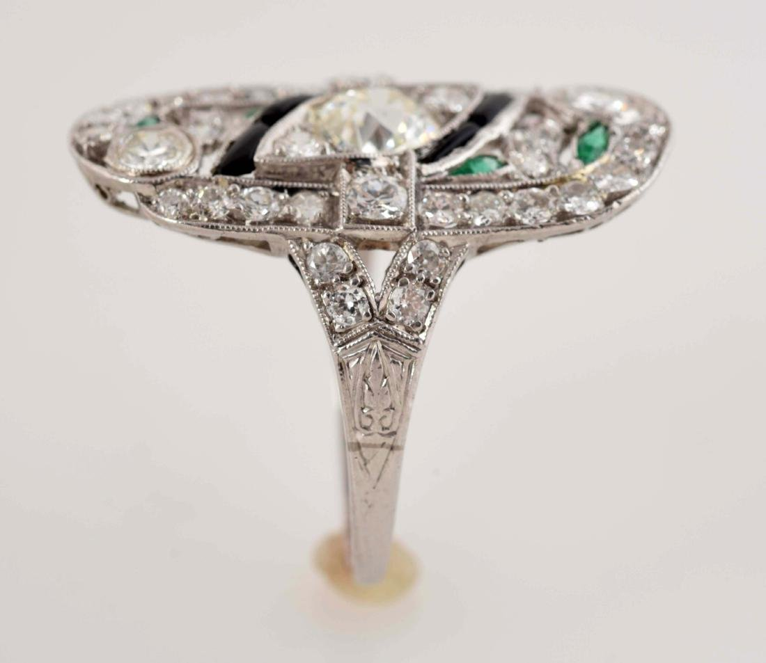 Platinum Diamond Ring. - 5