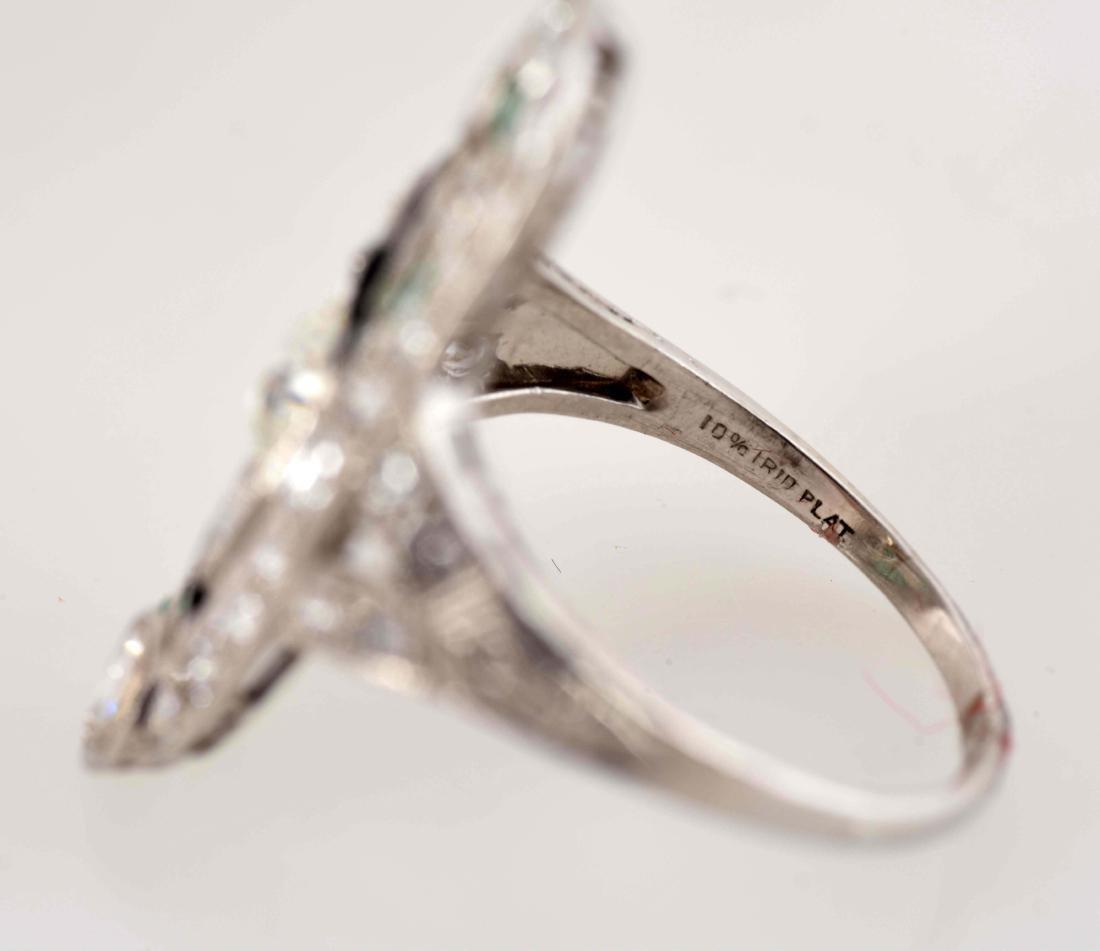 Platinum Diamond Ring. - 7