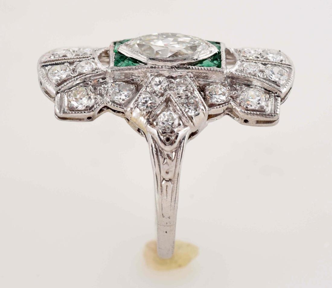 18K White Gold Antique Diamond Ring. - 4