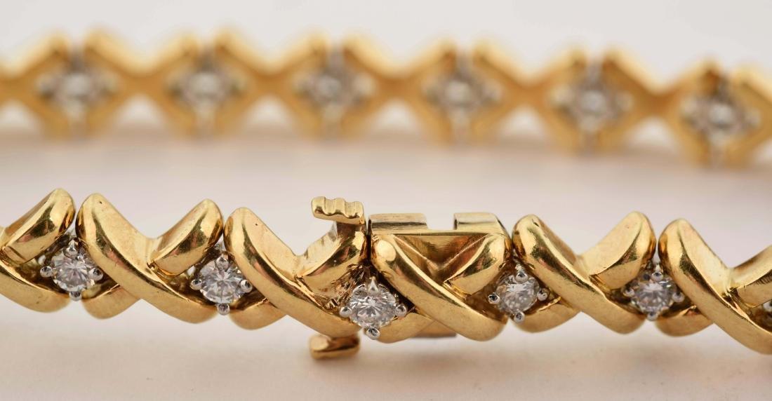 18K Yellow Gold Diamond Bracelet. - 4