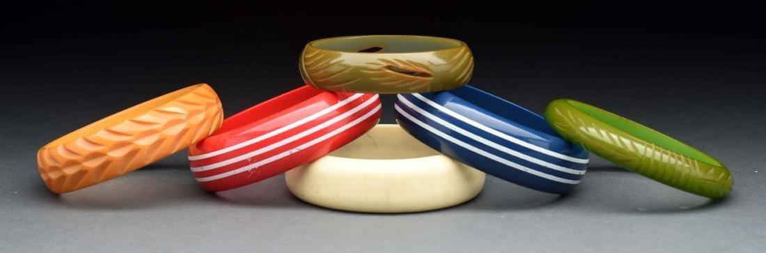 Lot Of 6: Bakelite Bangle Bracelets.