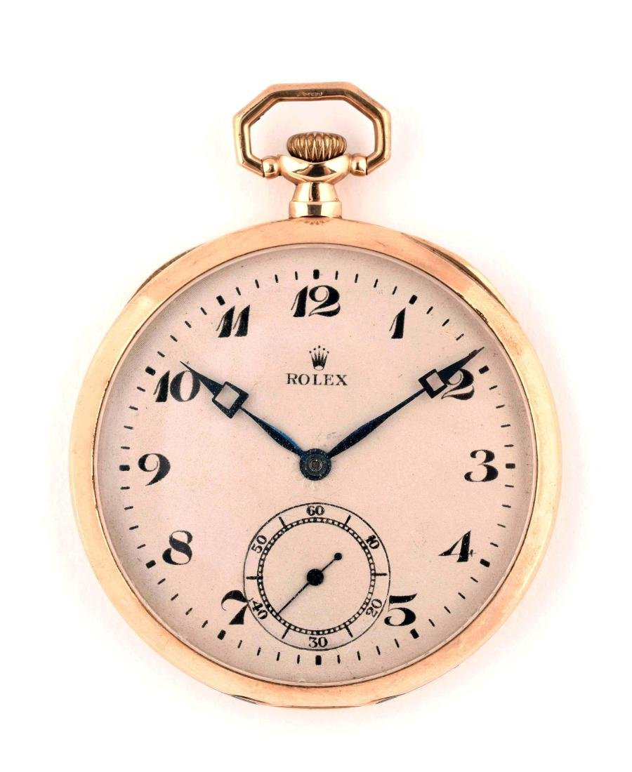 Rolex 9k Yellow Gold Pocket Watch.