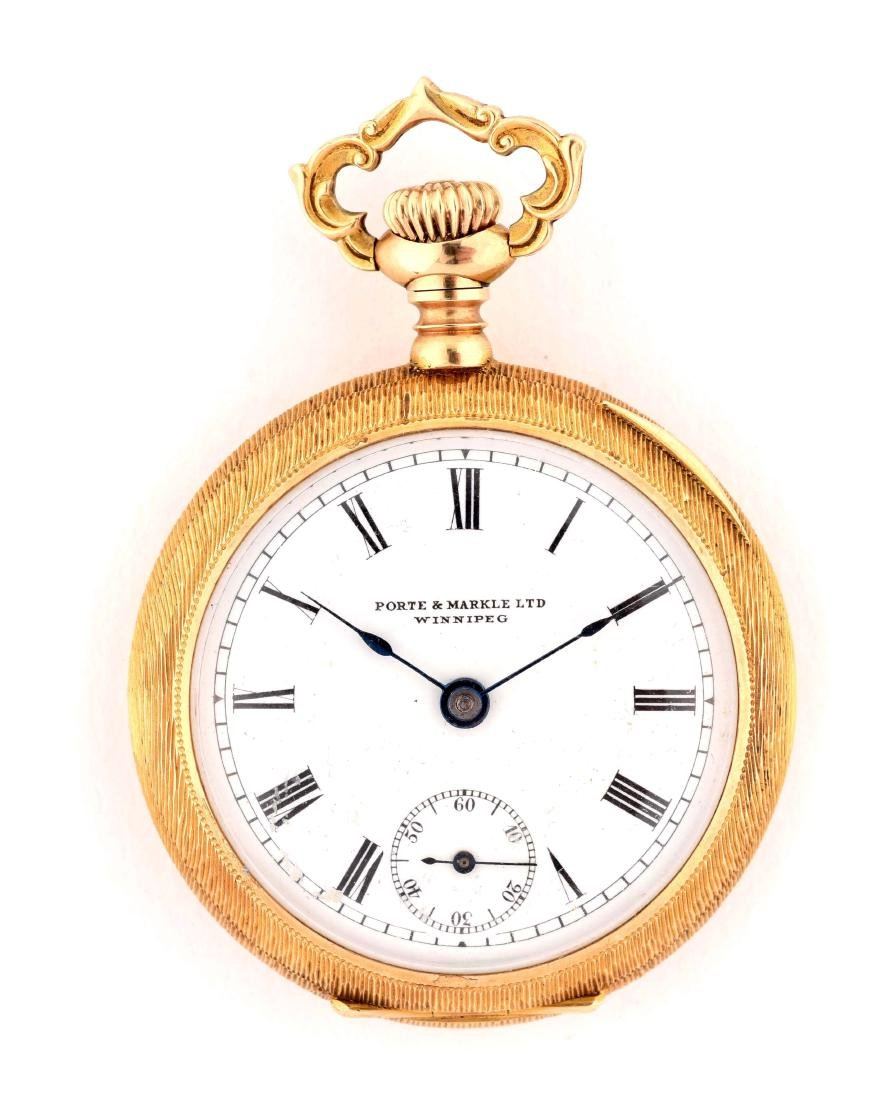 Porte & Markle Ltd. 14k Pocket Watch.
