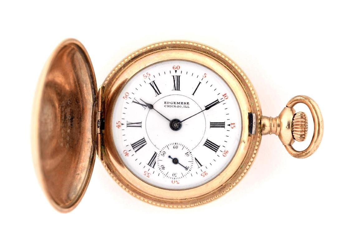Edgemere Chicago ILL Pocket Watch.