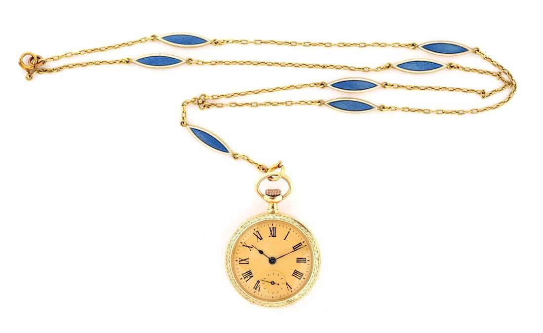 Small Pocket Watch with Chain.