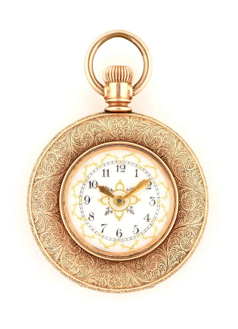 Waltham Gold Filled Open Face Pocket Watch.