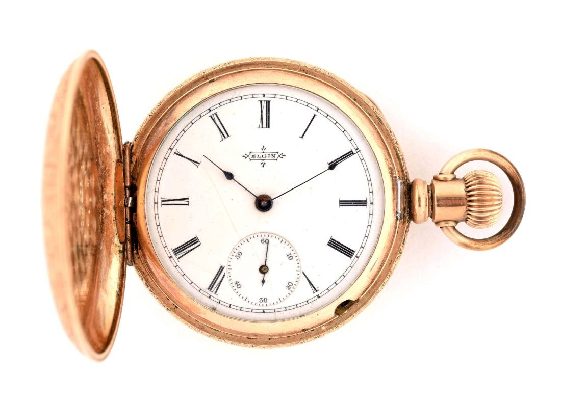 Elgin Gold Filled Pocket Watch with Gold Overlay