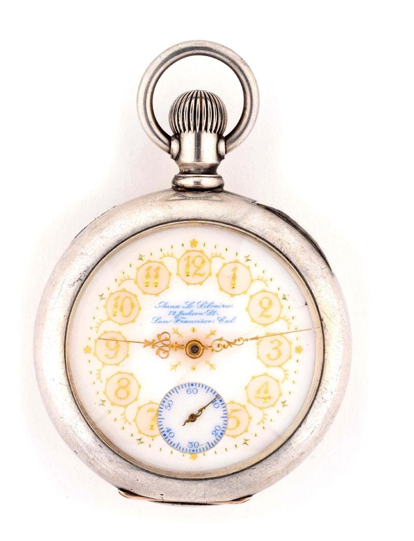 Coin Silver Hamilton Pocket Watch with Anna L. Silvera