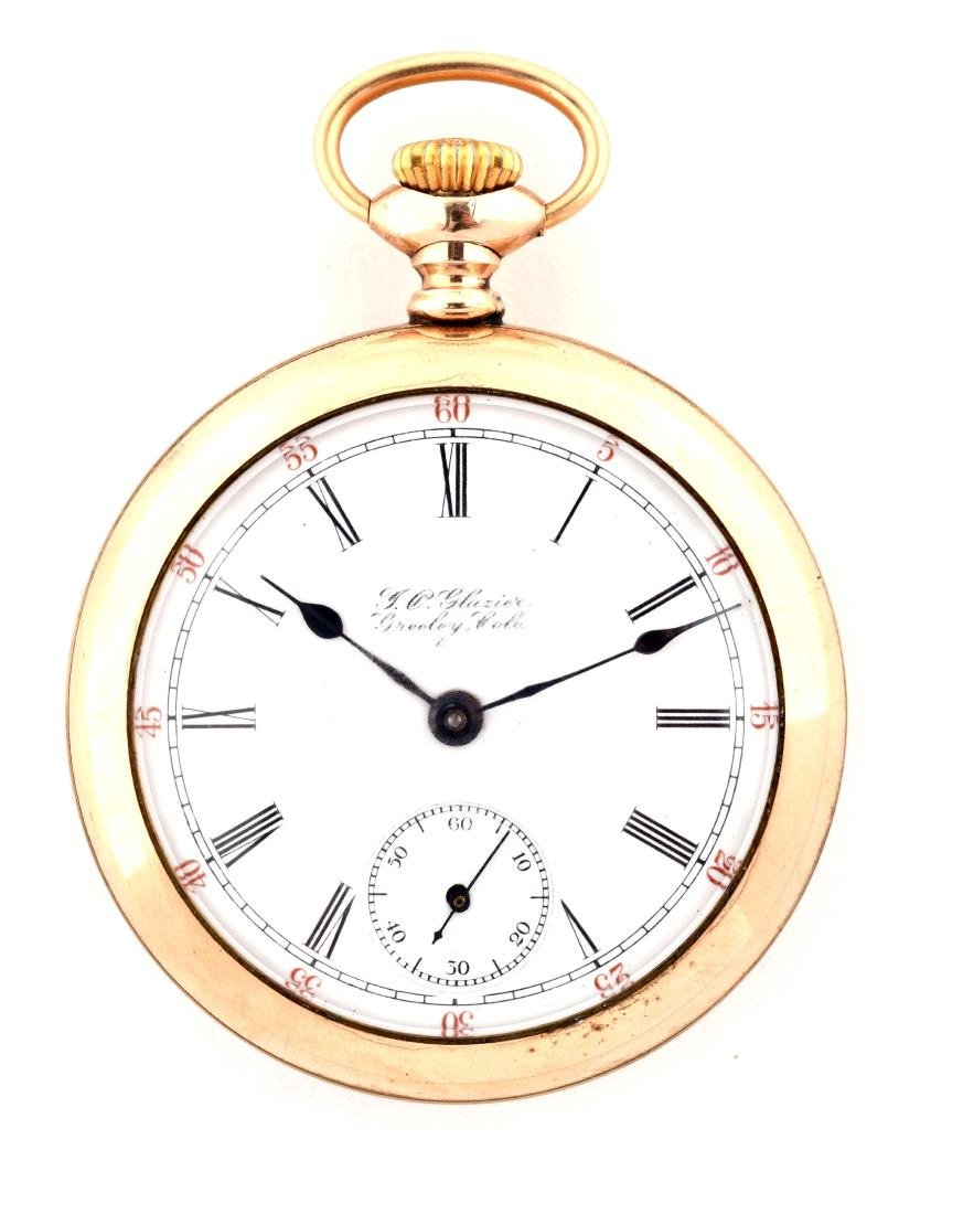 Glazier Gold Filled Pocket Watch.