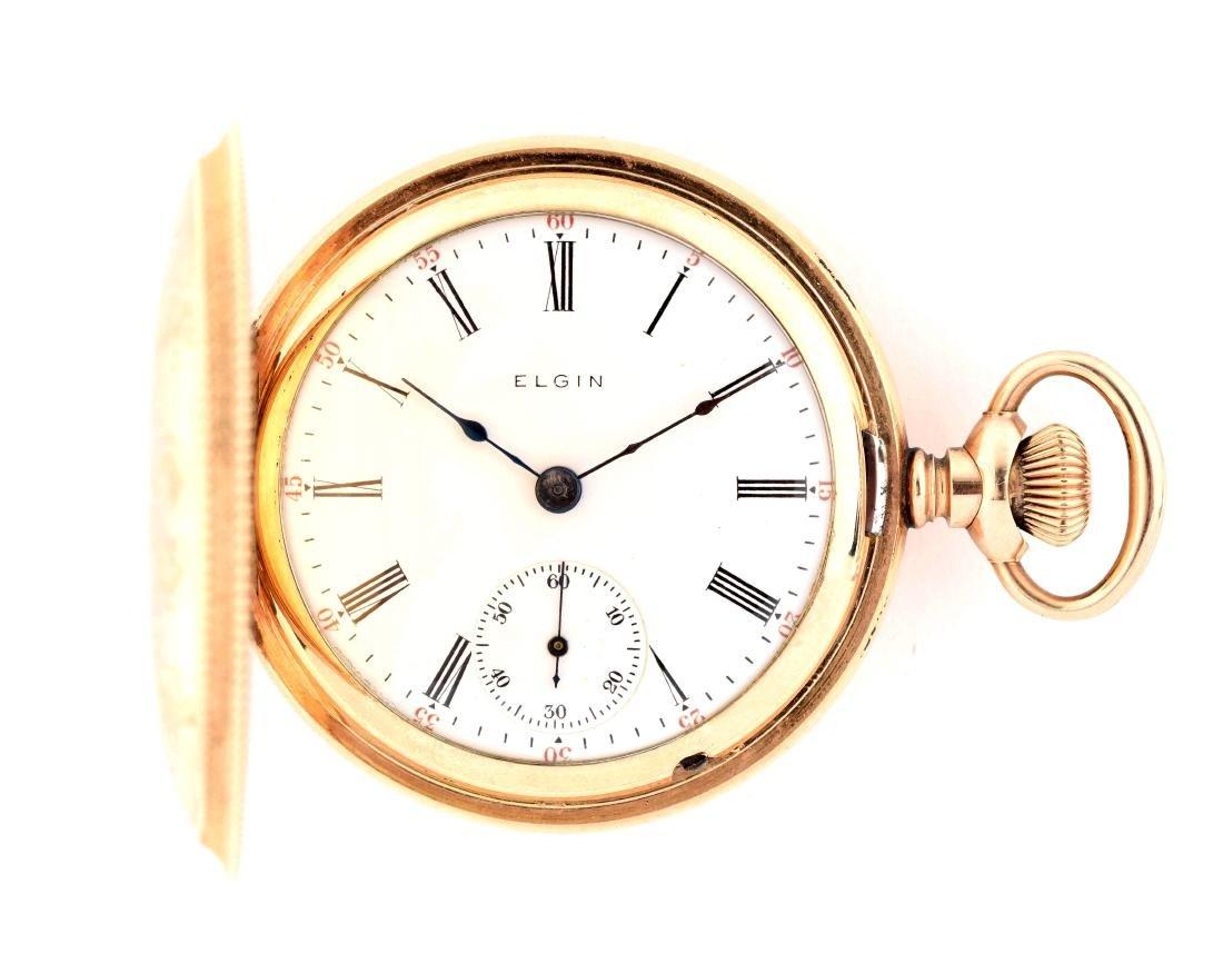 Elgin Gold Filled Hunting Case Pocket Watch.