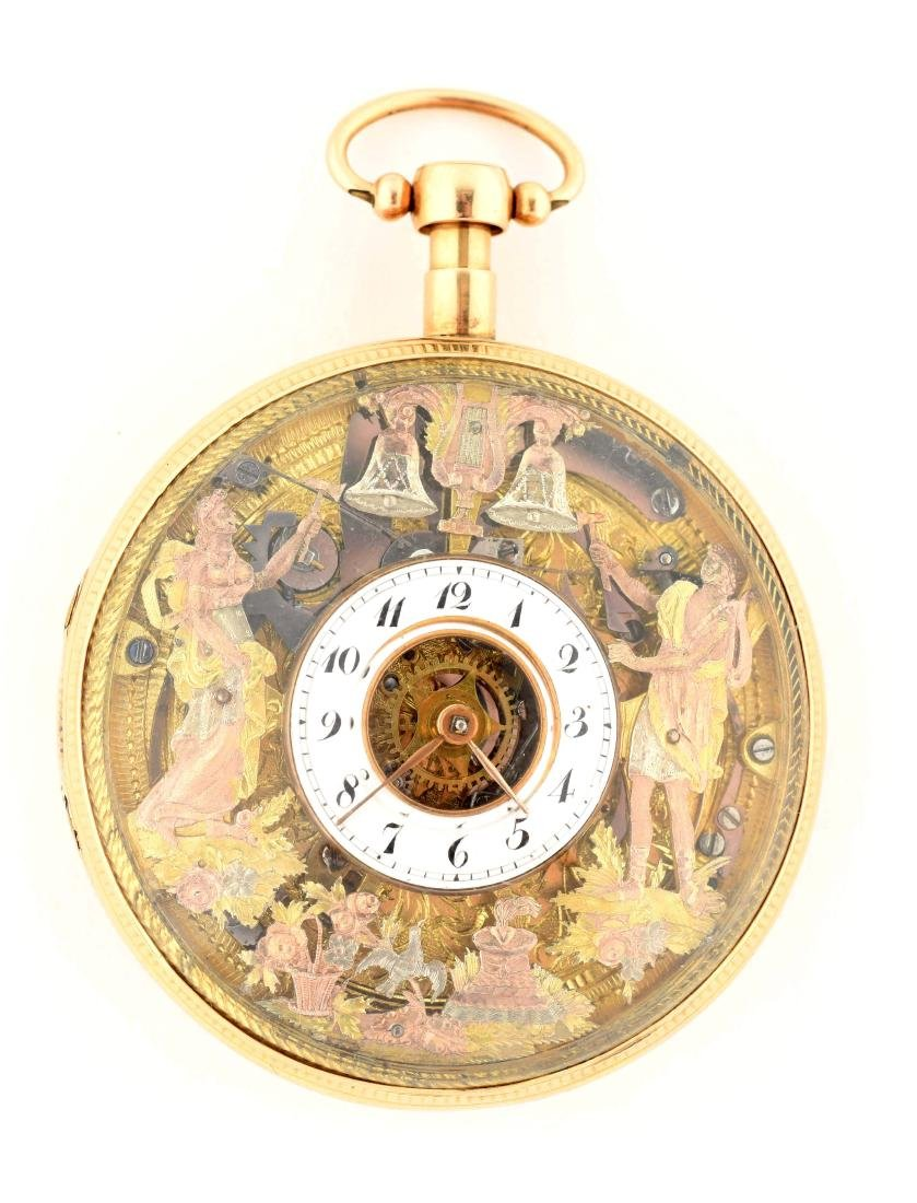 Unmarked 18K Gold Pocket Watch.