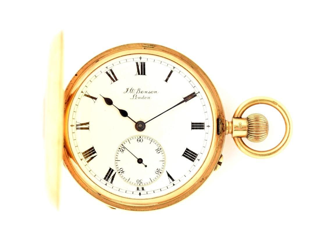 J.W. Benson 18K Gold Pocket Watch.
