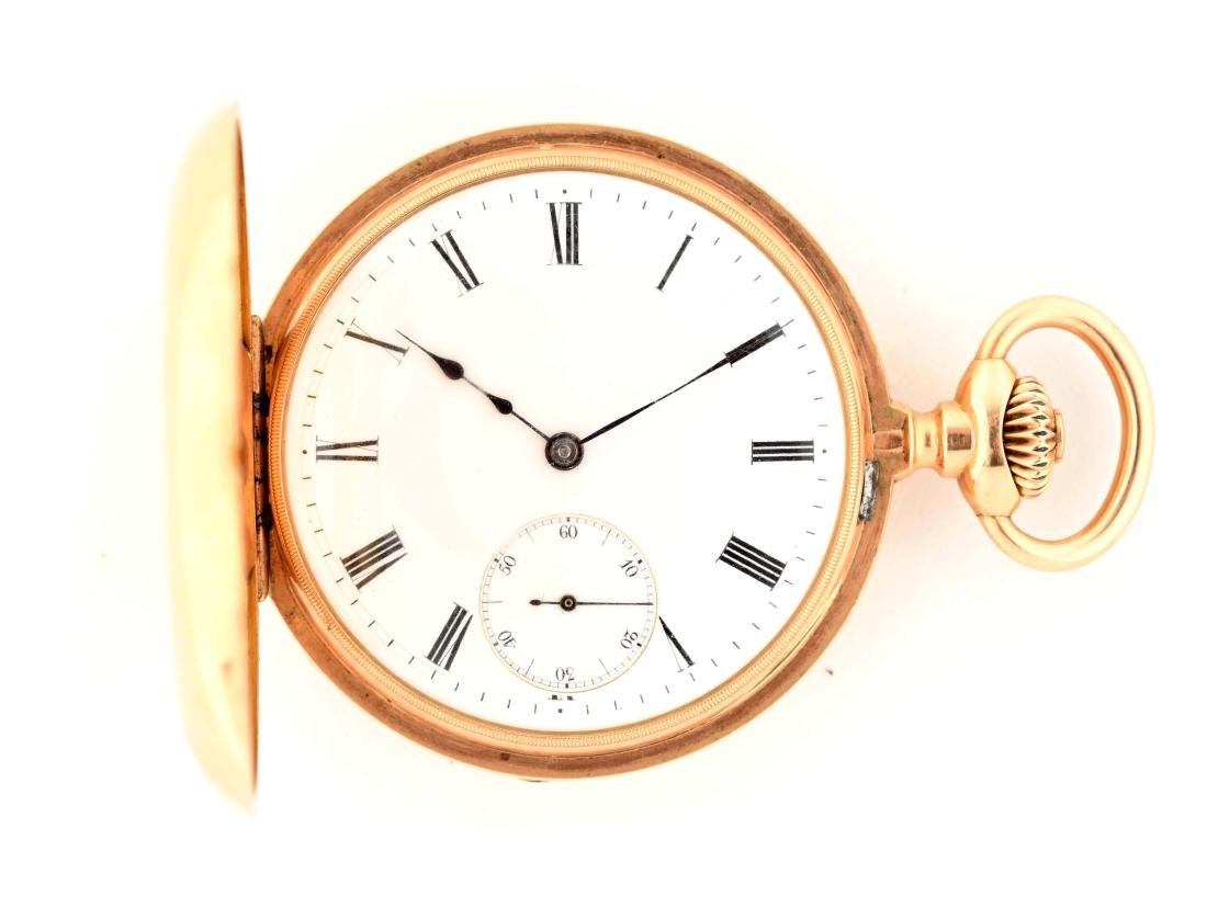 Patek Philippe Co. 18K Gold Pocket Watch.