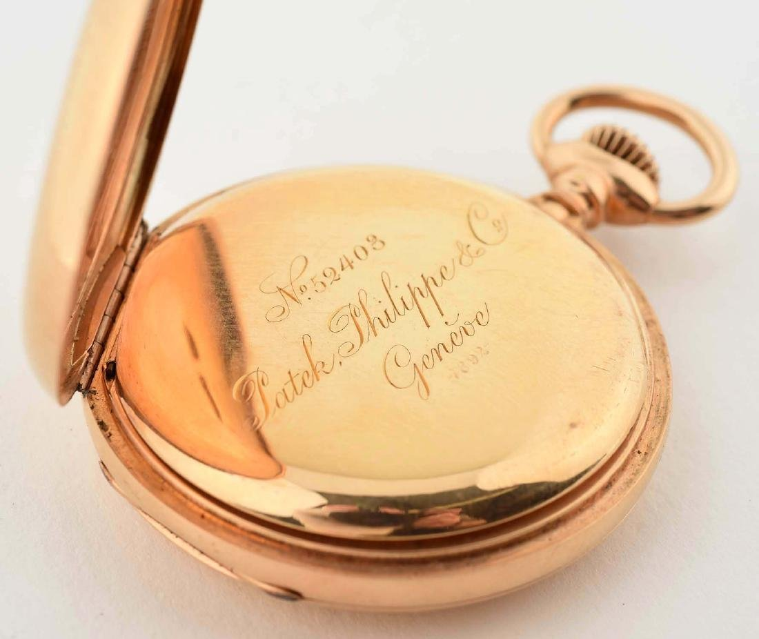 Patek Philippe Co. 18K Gold Pocket Watch. - 4