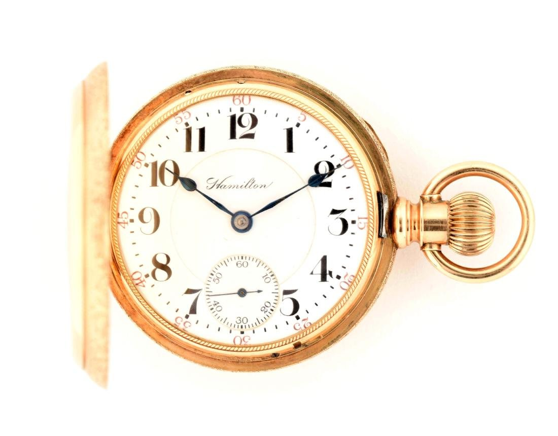 Hamilton Hunting Case Pocket Watch #941.