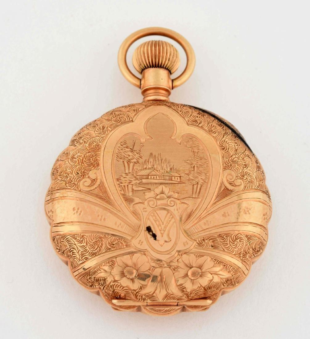 Elgin 14K Gold H/C Pocket Watch Circa 1893. - 3