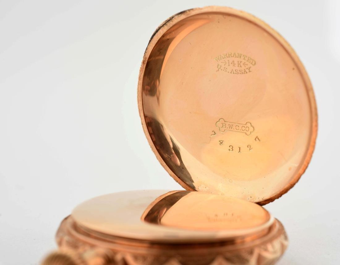 Elgin 14K Gold H/C Pocket Watch Circa 1893. - 4