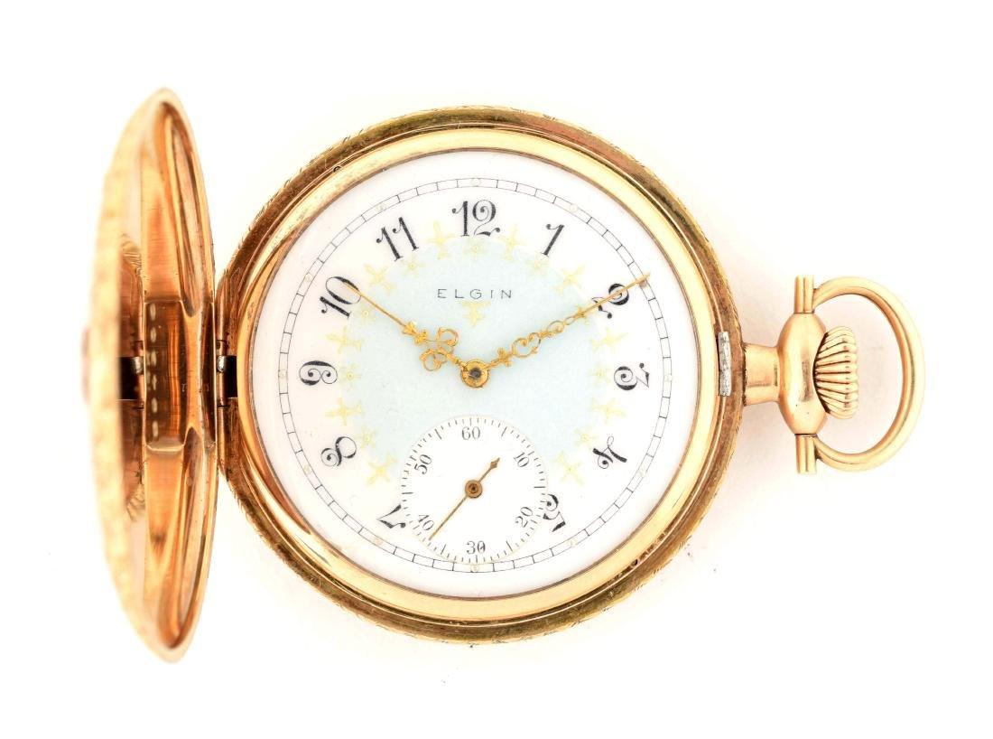Elgin 14K Gold Pocket Watch.