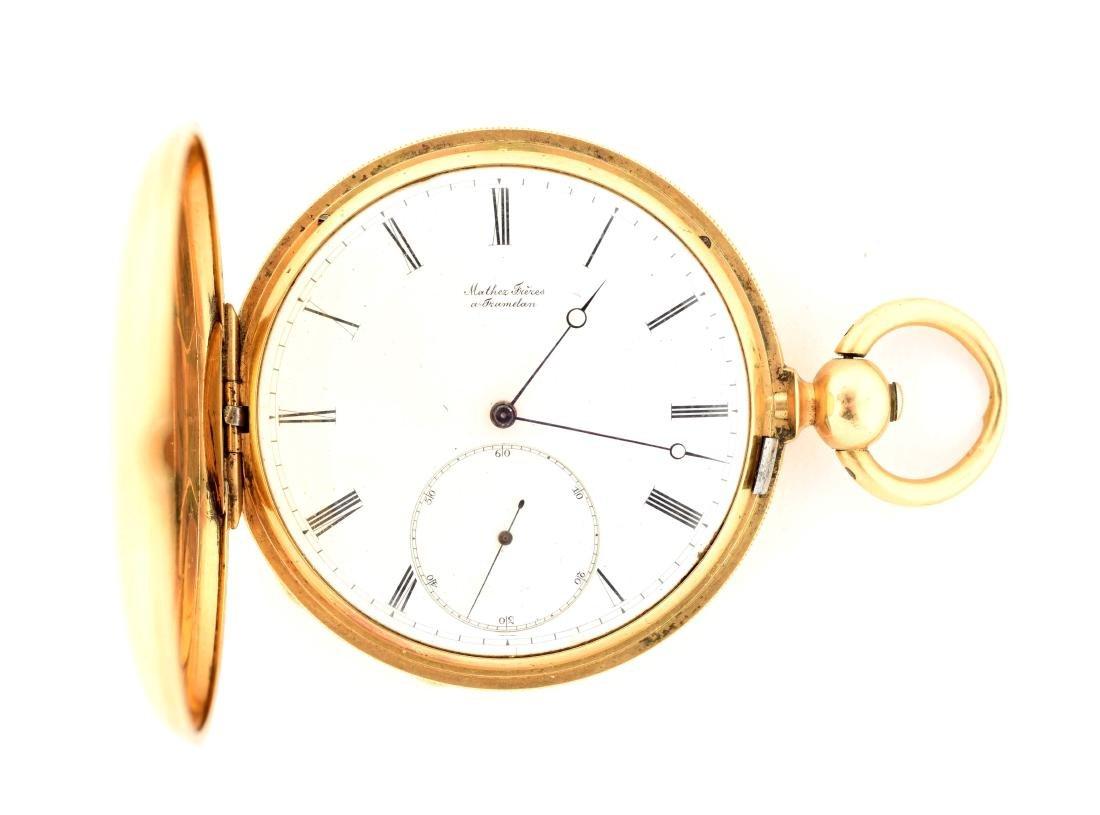 Mather Freres 18K Gold Pocket Watch.
